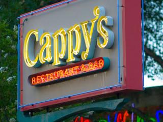 Cappy's San Antonio restaurant neon sign