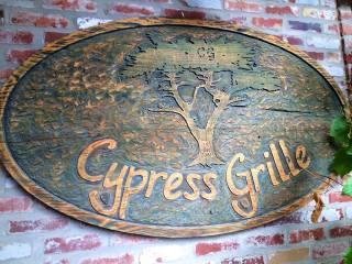 Cypress Grille restaurant sign