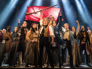 Cast of national tour of Les Miserables