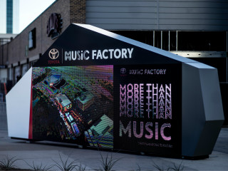 Toyota Music Factory sign