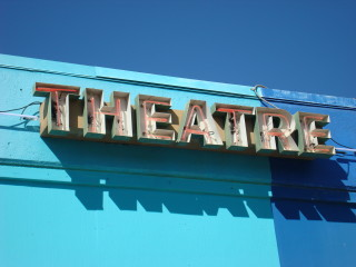 Austin photo: Places_Arts_Blue_Theatre_Sign