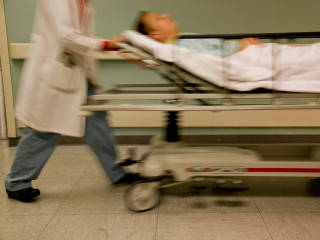 News_Harris County Hospital District_Ben Taub_blurred_stretcher
