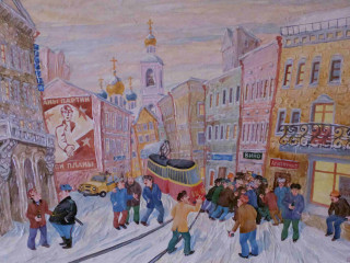 """""""Perestroika Inspired: Russian Paintings of the Late 20th Century"""" opening reception"""