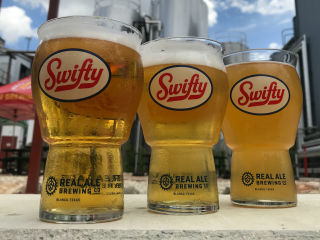 Real Ale Swifty glasses