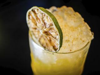 Cocktail lime garnish
