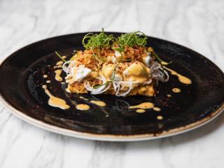 Tris kimchi crab