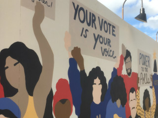 Xavier SChipani midterms matter mural