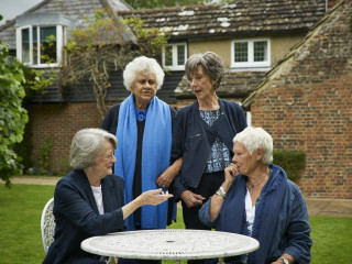Maggie Smith, Eileen Atkins, Joan Plowright, and Judi Dench in Tea with the Dames