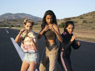 Kristen Stewart, Ella Balinska, and Naomi Scott in Charlie's Angels
