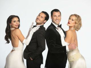 Jenna Johnson, Maks and Val Chmerkovskiy, and Peta Murtgatroyd