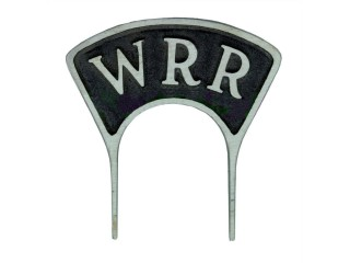 Original WRR mic flag from the 1930s