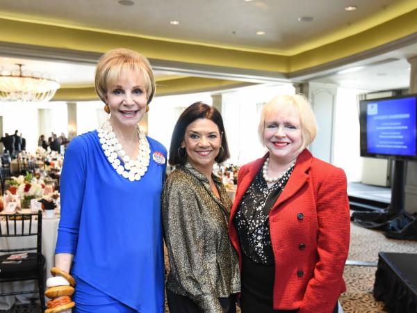 El Centro luncheon, Feb. 2016, Leisa Holland-Nelson, Sonia Manzano, Leila Perrin