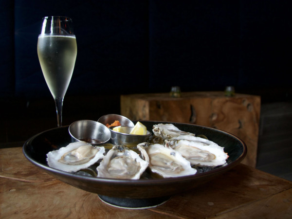 Counter 3.Five.VII three five seven oysters champagne