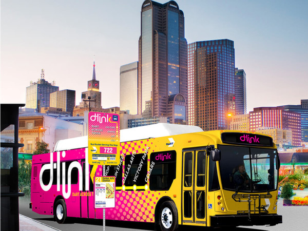 D-Link is a free shuttle in downtown Dallas