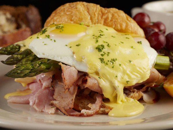 French ham Benedict at Bread Winners Cafe & Bakery in Dallas