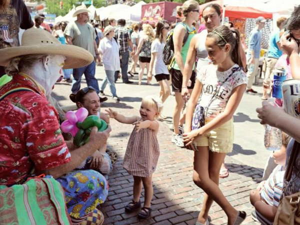 Pecan Street Festival_Sixth Street_clown_Spring 2014