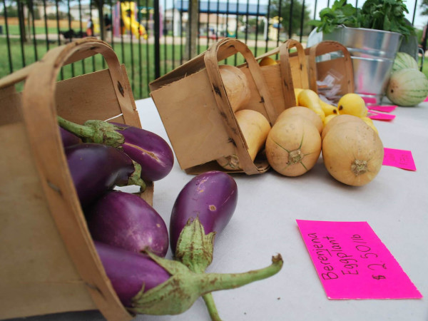 Farmshare Austin mobile market produce vegetables