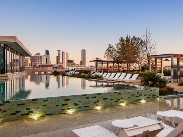 Rooftop pool at AMLI Design District in Dallas