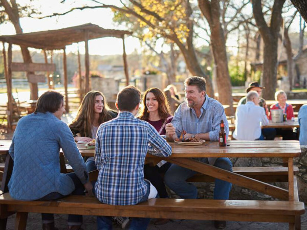 The Salt Lick BBQ patio