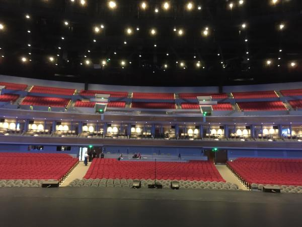 Smart Financial Arena interior during preview