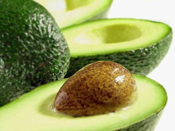 avocado slice with seed