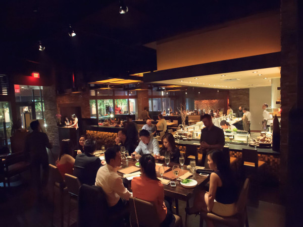 KUU Restaurant interior with crowd