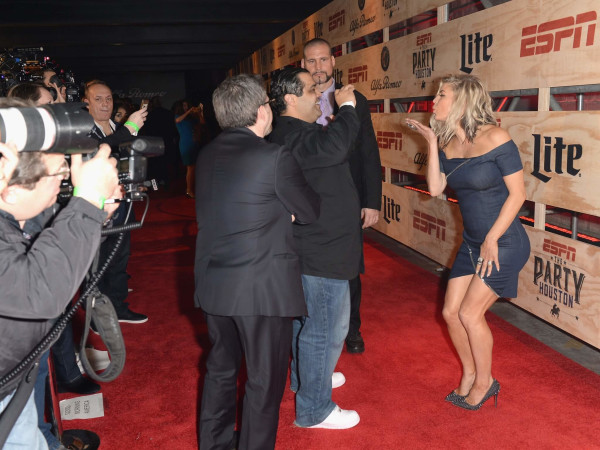 Fergie on the red carpet at ESPN The Party