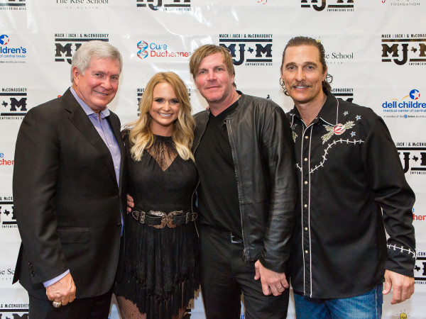 Mack, Jack & McConaughey 2017 Mack Brown Miranda Lambert Jack Ingram Matthew McConaughey