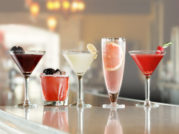 Ruth's Chris cocktails on bar