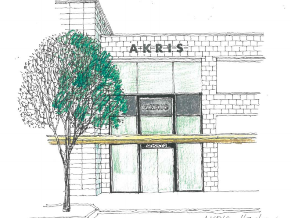 Rendering of new Akris store in Houston River Oaks District