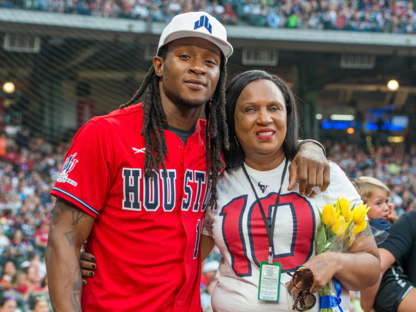 Houston, J.J. Watt Charity Classic, May 2017, DeAndre Hopkins, Sabrina Greenlee
