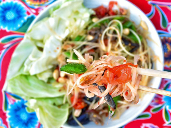 Thai-Kun Austin papaya salad