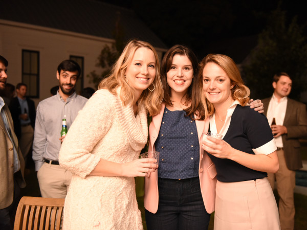 News, Pier & Beam party, Dec. 2015, Kate Parsons, Regina Romano, Hallie Crawford.