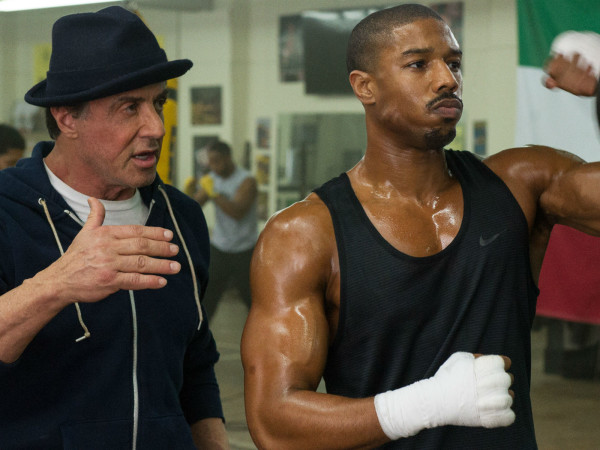 Sylvester Stallone and Michael B. Jordan in Creed