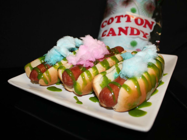 Rangers hot dog cotton candy