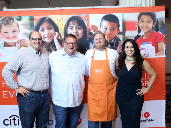 News, Taste of the Nation, Sept. 2015,  Daniel Vaughn, from left, Chris Shepherd, Randy Evans and Alba Huerta.