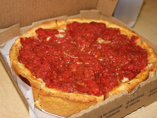 D'Marcos deep dish pizza