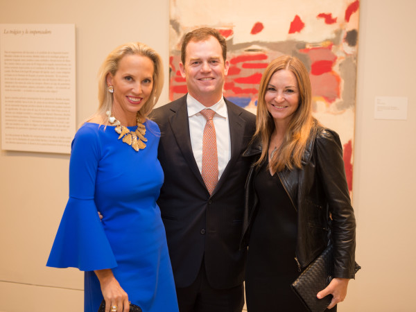 News, Shelby, MFAH Rothko opening, Sept. 2015, Catherine Masterson; Brian and Elisabeth McCabe