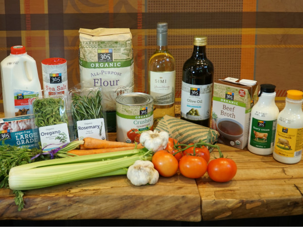 Ingredients for Lasagna Bolognese