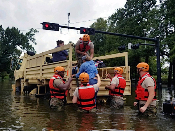 Houston, Hurricane Harvey, flood photos, rescue crew