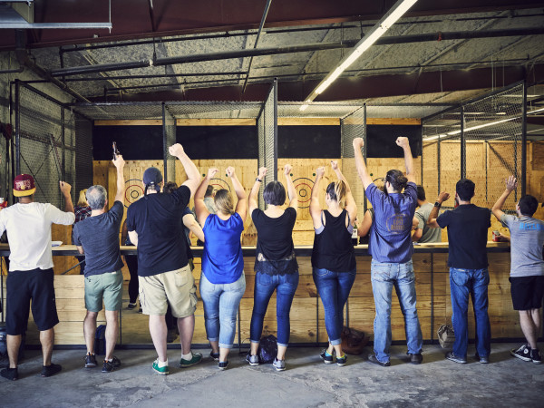 Urban Axes ax-throwing venue in Austin