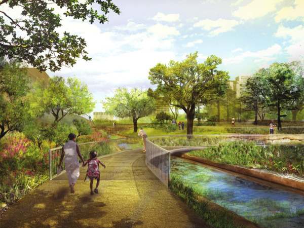 Waller Creek Plans Arc Bridge