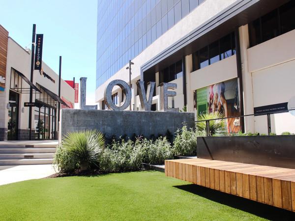 WestBend's Love Sculpture Courtyard