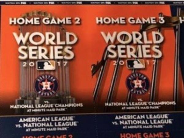 World Series tickets Astros Dodgers
