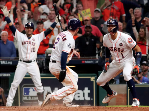 Houston Astros celebrate win after World Series Game 5