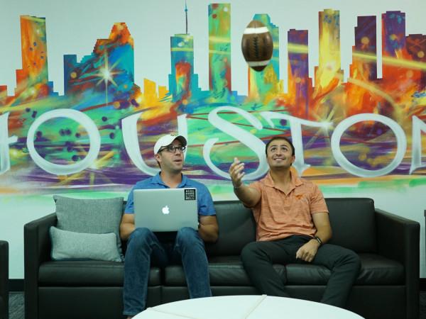 Chris Buckner of FanReact and Jorge Ortiz of GameDay Films