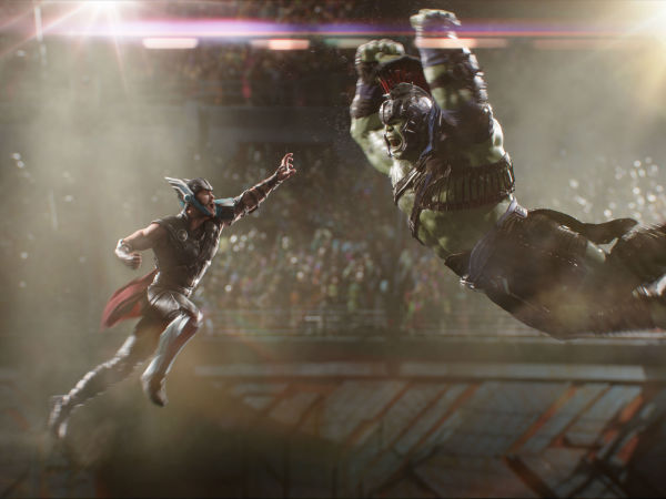 Chris Hemsworth and Mark Ruffalo in Thor: Ragnarok