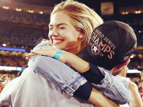 Kate Upton and Justin Verlander celebrate World Series win