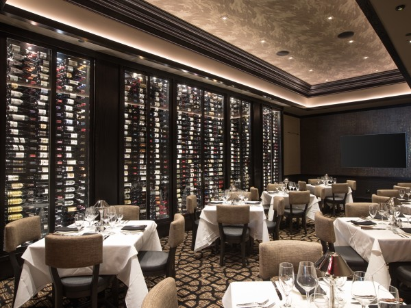 Mastro's Houston wine wall