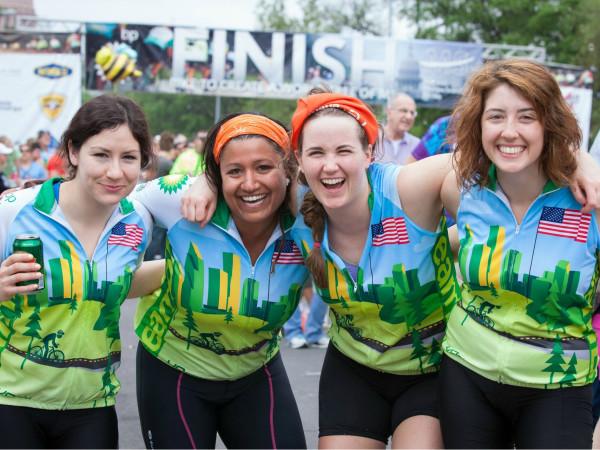 BP MS 150 girls posing